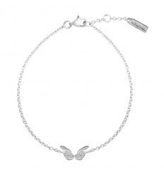 AGATHA SWEET ANGEL - Bracelet ailes sur chaine ARGENTE