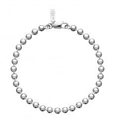 AGATHA BUZ - Bracelet souple chaîne maille boules ARGENTE