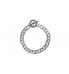 AGATHA ACIER FORCE - Bracelet couple chaine maille forçat ARGENTE