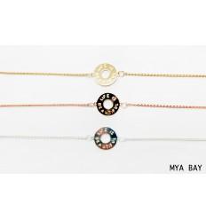 "MYA BAY Bracelet chaîne ""LIFE IS BEAUTIFUL"" ARGENTE"