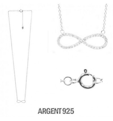 MW SILVER - Collier strass INFINI