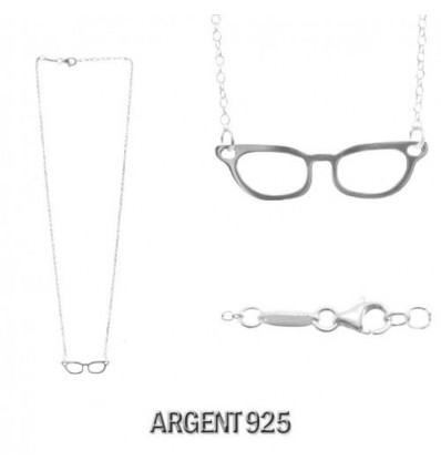MW SILVER - Collier LUNETTES