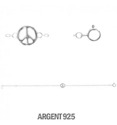 MW SILVER - Bracelet PEACE&LOVE