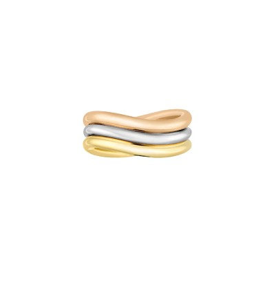 CHRISTOFLE COLLECTION 925 - BAGUE JONC ANNEAU GILDED OR T51