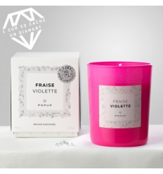 POPUP BOUGIE POP EDITION WHITE DIAMOND 150G 35H - FRAISE VIOLETTE