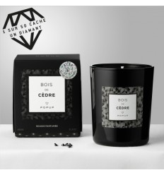 POPUP BOUGIE BLACK EDITION BLACK DIAMOND 150G 35H - BOIS DE CEDRE