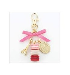 Keyring macarons S LADUREE // Rose