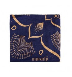 MARADJI - FOULARD FRANCETTE BLUE - 100X100CM 100% VISCOSE DE BAMBOU