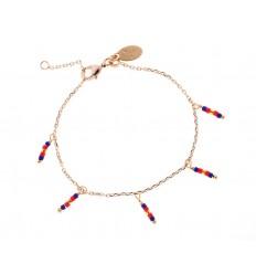 NILAI Bracelet Miyuki Pampille PO Marine/Corail