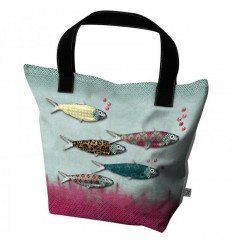 LAISSEZ LUCIE FAIRE BIG TOTE BAG FISHWAX - 50X41X20