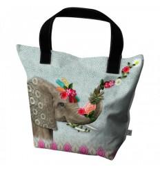 LAISSEZ LUCIE FAIRE - Big Tote Bag Hello - 50x41x20cm polyester/coton