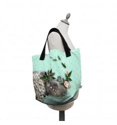 LAISSEZ LUCIE FAIRE - Big Tote Bag Rhinoo - 50x41x20cm polyester/coton
