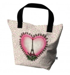 LAISSEZ LUCIE FAIRE - Big Tote Bag Toureplume - 50x41x20cm polyester/coton