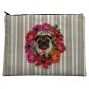 LAISSEZ LUCIE FAIRE - Grande pochette Carliflore - 21x28cm polyester/coton