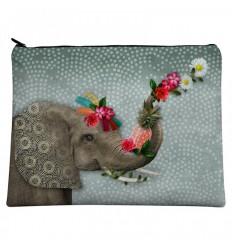 LAISSEZ LUCIE FAIRE - Grande Pochette Hello - 21x28cm polyester/coton