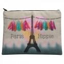 LAISSEZ LUCIE FAIRE - Grande Pochette Hippie - 21x28cm polyester/coton