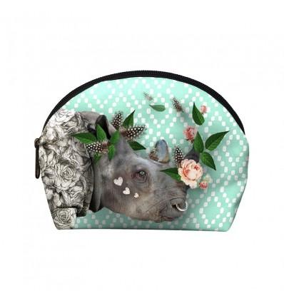 LAISSEZ LUCIE FAIRE - Pochette Make-Up Rhinoo - 12x17x4cm polyester/coton