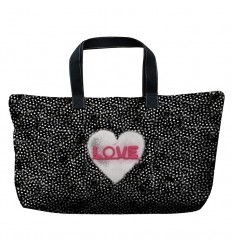 LAISSEZ LUCIE FAIRE - Sac Week-End Love - 66x46x21cm polyester/coton