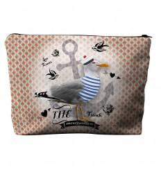 LAISSEZ LUCIE FAIRE - Trousse de Toilette Moussaillon - 22x29x7cm polyester/coton