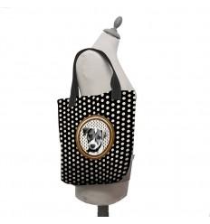 LAISSEZ LUCIE FAIRE - Tote Bag Russell Noir - 35x41x9cm polyester/coton
