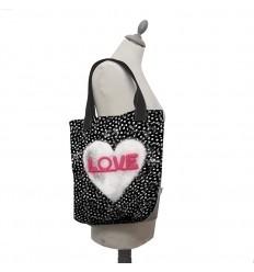 LAISSEZ LUCIE FAIRE - Tote Bag Love - 35x41x9cm polyester/coton