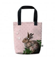 LAISSEZ LUCIE FAIRE - Tote Bag Lapinoo - 35x41x9cm polyester/coton