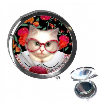 LAISSEZ LUCIE FAIRE - Miroir clapet Mamichat - diametre 7cm