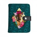 LAISSEZ LUCIE FAIRE - Porte-Cartes PEPITA - 10x8cm PU/polyester 10 feuilles doubles