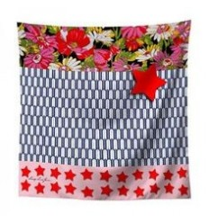 LAISSEZ LUCIE FAIRE - Foulard STAR - 70x70cm polyester