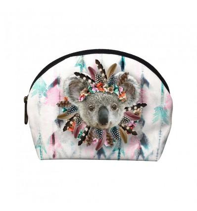 LAISSEZ LUCIE FAIRE - Pochette Make-Up KOAKING - 12x17x4cm polyester/coton