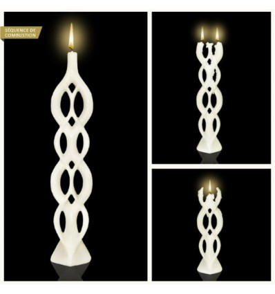 ALUSI BOUGIE MULTI FLAMMES LELA WHITE