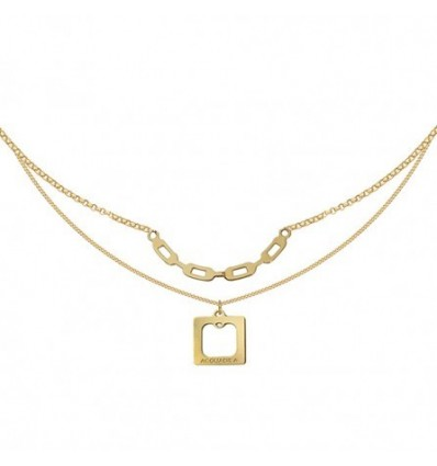 ACQUADILA COLLIER DOUBLE SQUARE doré
