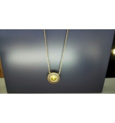 VANESSA TUGENDHAFT LA GARCONNE - TALISMAN - COLLIER DIAMANT 0.022 OR 375 9CTS