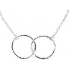 AGATHA Bracelet 2 anneaux croisés sur chain 50 % A , 50 % Qua