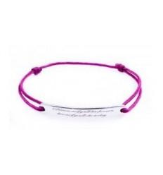 """Desire"" Message Silver Bracelet"