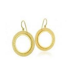 'Avita' Disc Earrings: Rose