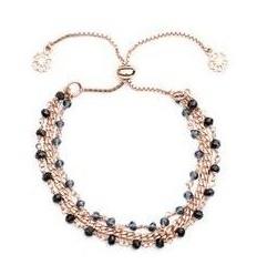 'Delia' Three Strand Bracelet: Silver Iolite