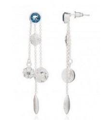 'Alexa' gemstone, charm earring: Silver/Iolite