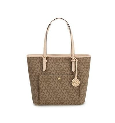 MICHAEL KORS JET TRAVEL MEDIUM LOGO TOTE