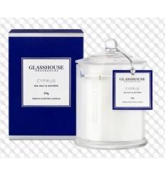 BOUGIE GLASSHOUSE 60 G Cyprus Sea Salt & Saffron