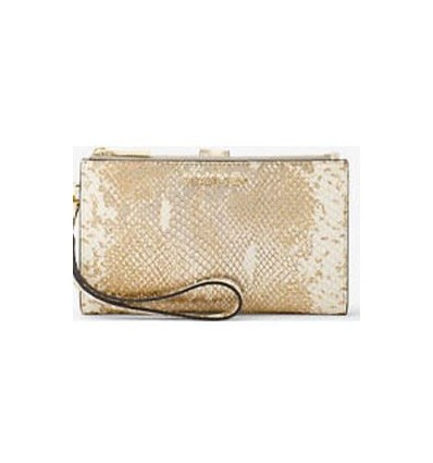 MICHAEL KORS ADELE METALLIC SNAKE EMBOSSED