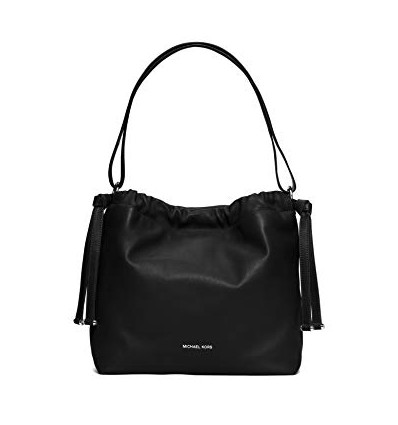 MICHAEL KORS Angelina Large Leather Shoulder Bag, Black