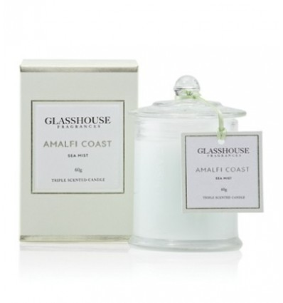 BOUGIE GLASSHOUSE 60G AMALFI COAST SEA MIST
