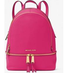 MICHAEL KORS  Rhea leather Backpack utltra pink