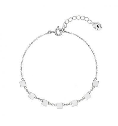 AGATHA Bracelet pastilles carrées sur chain