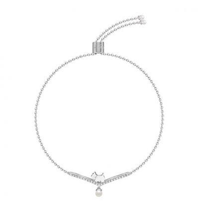AGATHA Bracelet semi rigide pavé, scottie&