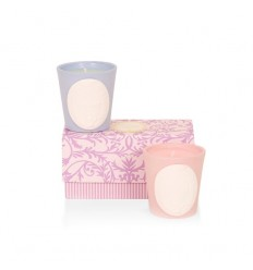 BEAUTE LADUREE COFFRET BOUGIES 2X80G - CAPRICE DE LADUREE / DELICE DE LADUREE