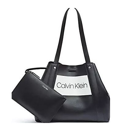 Calvin Klein Coleen Vegan Leather Novelty L