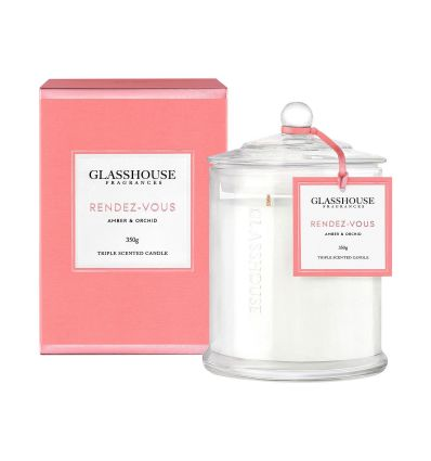 BOUGIE GLASSHOUSE 350GM Rendez-Vous Candle