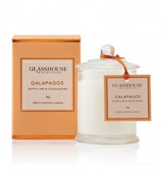BOUGIE GLASSHOUSE 60G GALAPAGOS KAFFIR LIME COCOA BUTTER
